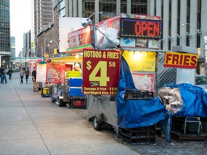 Nathan Phillips Square Food Trucks Toronto  Canada
