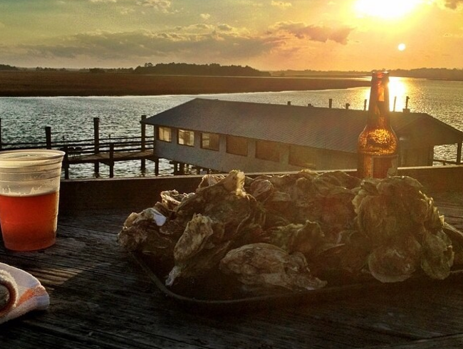 Oysters Straight from the Ocean