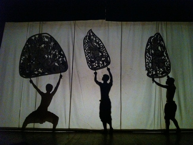 Spend a night at the shadow puppet theatre