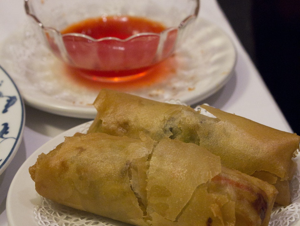 Magic Egg Rolls at the Yank Sing San Francisco California United States