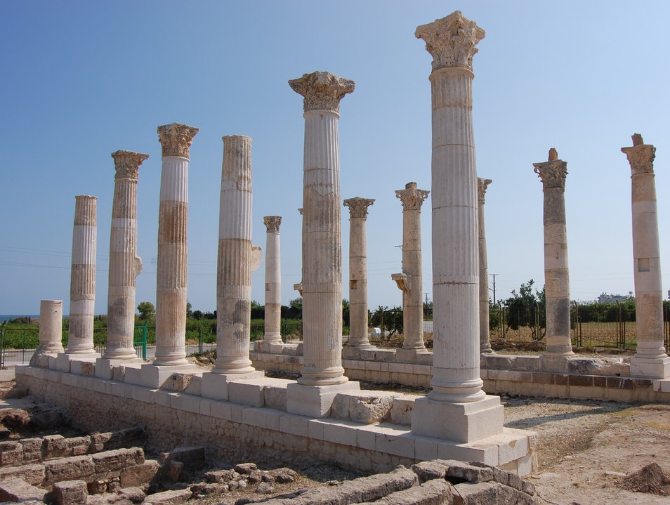 Visit an ancient Roman Colonade in Mersin Icel  Turkey