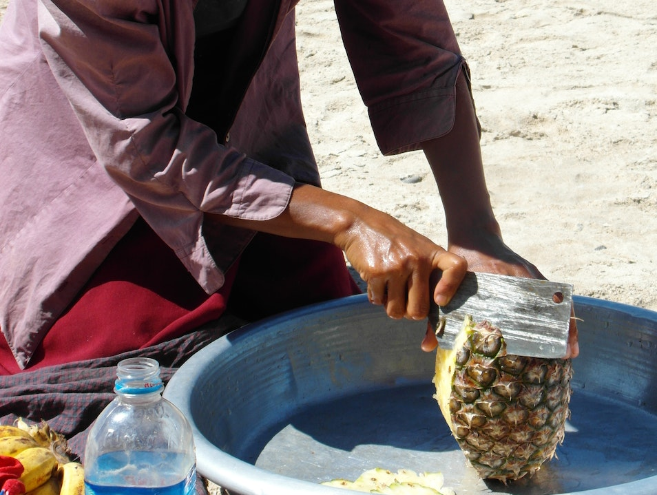Beach Food Thandwe District  Myanmar