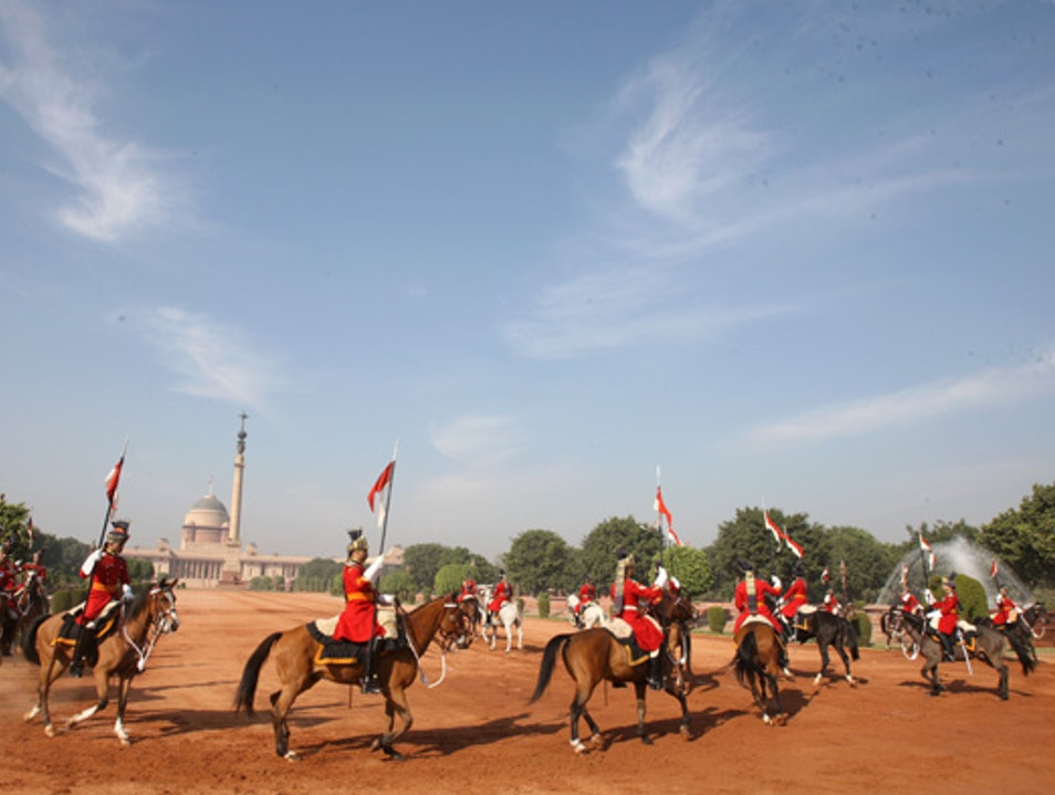 Ceremonial Changing of the Guard at Rashtrapati Bhavan New Delhi  India