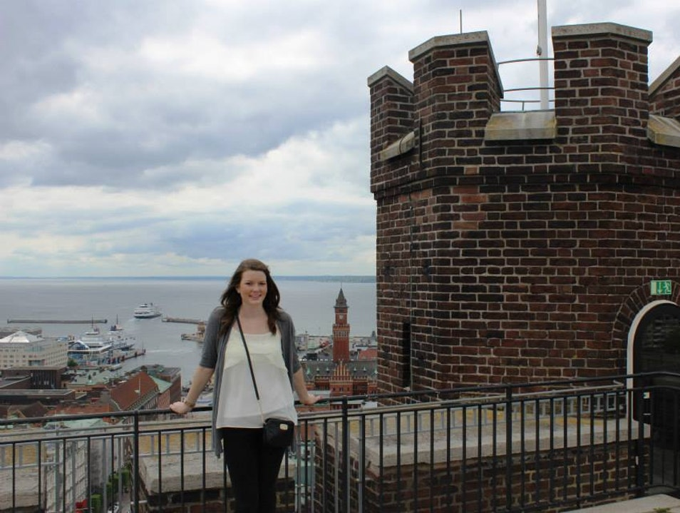 A beautiful castle built in 1310 in Helsingborg, Sweden with an amazing view overlooking the sea