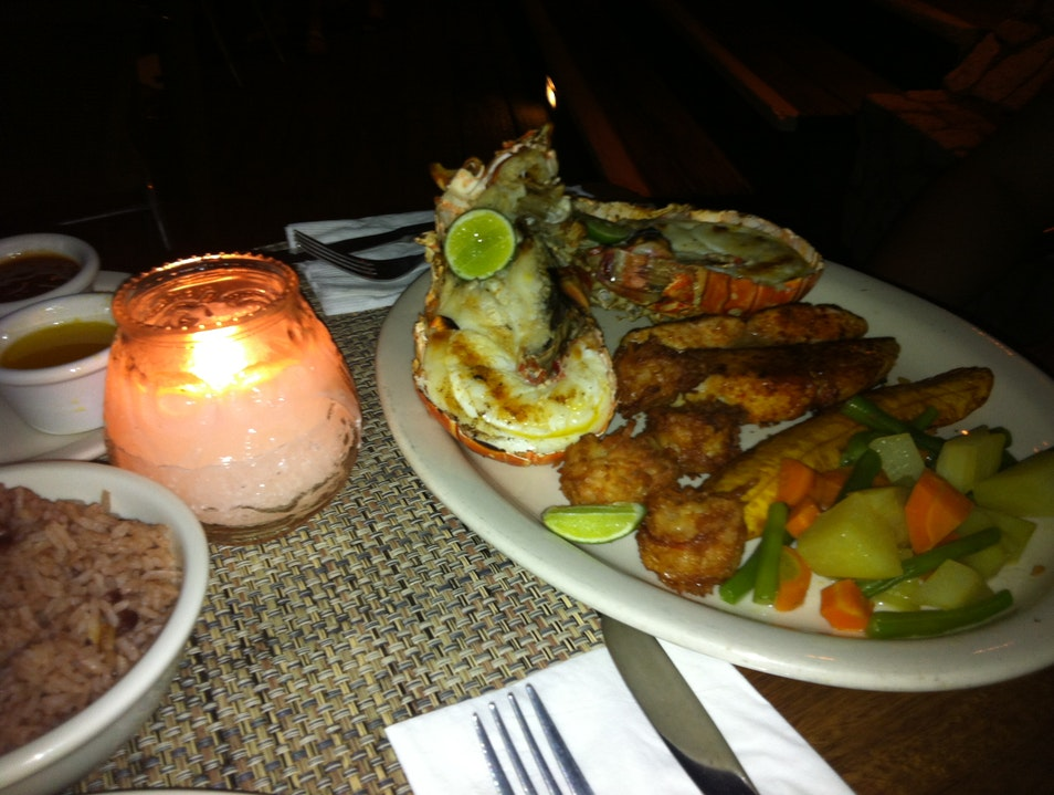 Grilled Lobster and Fish @Rockhouse