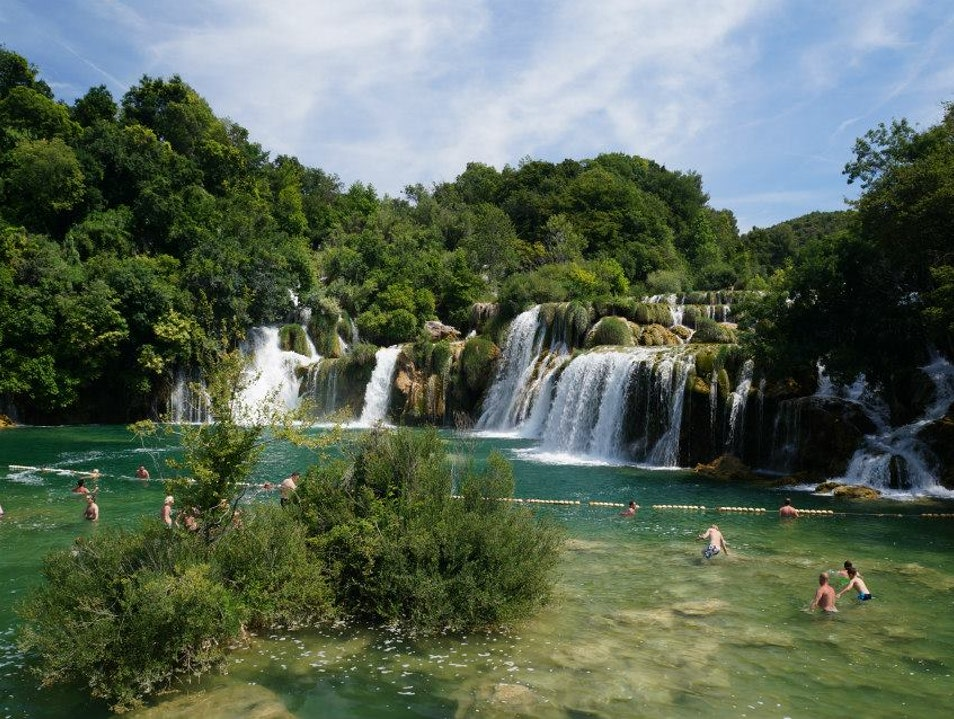 Swimming at Krka National Park Brištane  Croatia