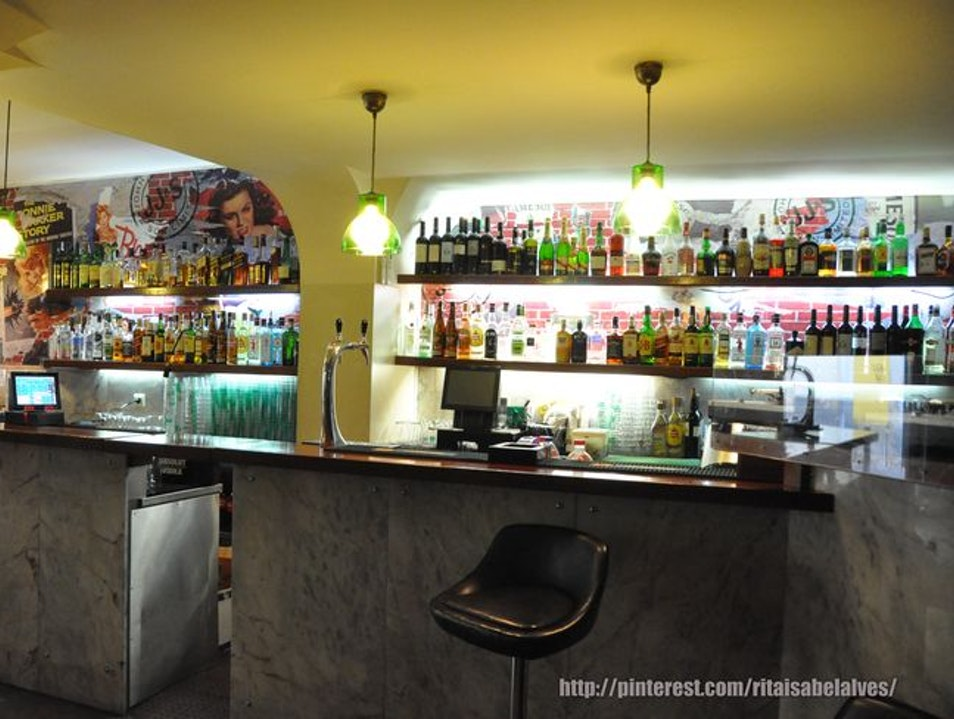 The most popular bar in Bairro Alto Lisboa  Portugal