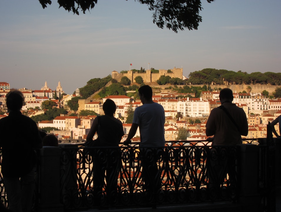 The best view over Lisbon, in Bairro Alto