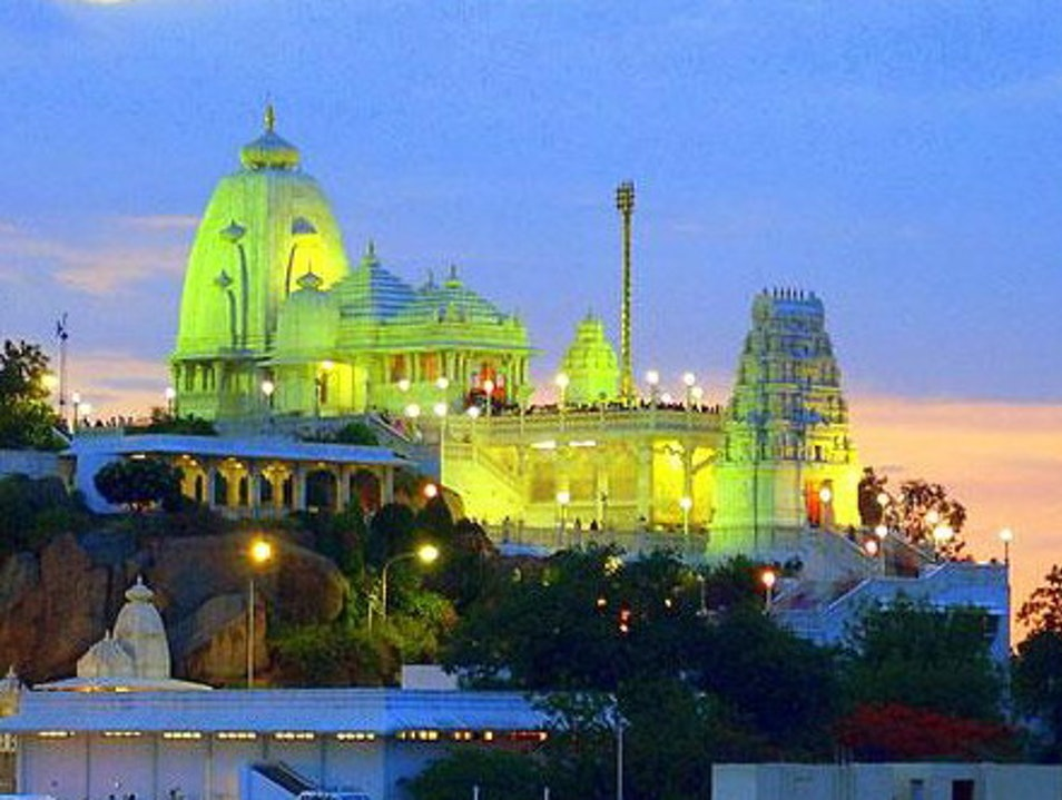 The Illuminated Birla Mandir Hyderabad  India