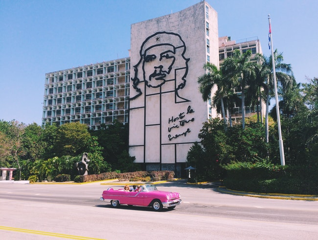 The Plaza de la Revolución in Havana, Cuba