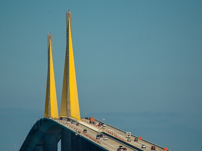 Sunshine Skyway Bridge Hillsborough County Florida United States