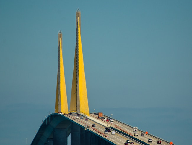 Impressive Sunshine Skyway Bridge Architecture