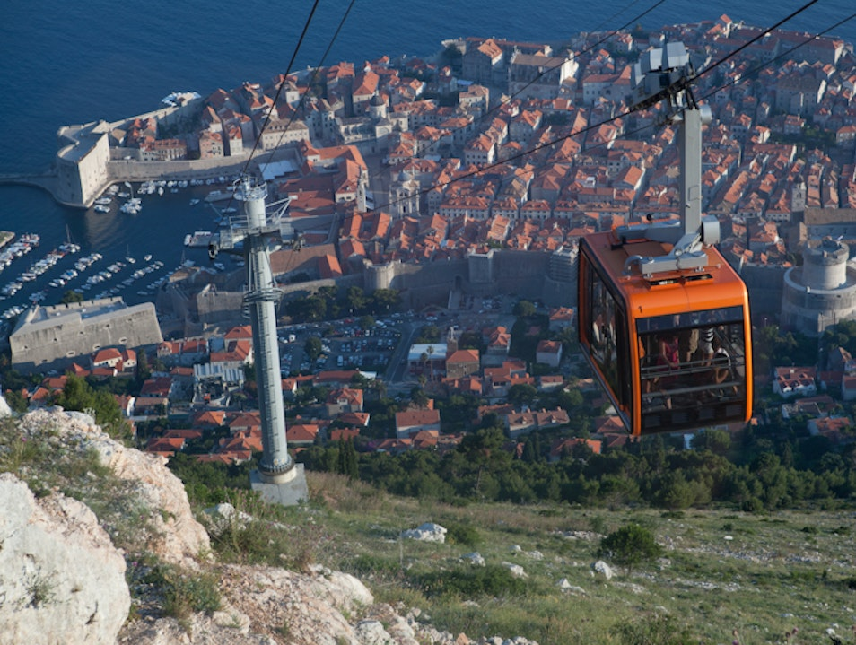 Ride the cable car Dubrovnik  Croatia