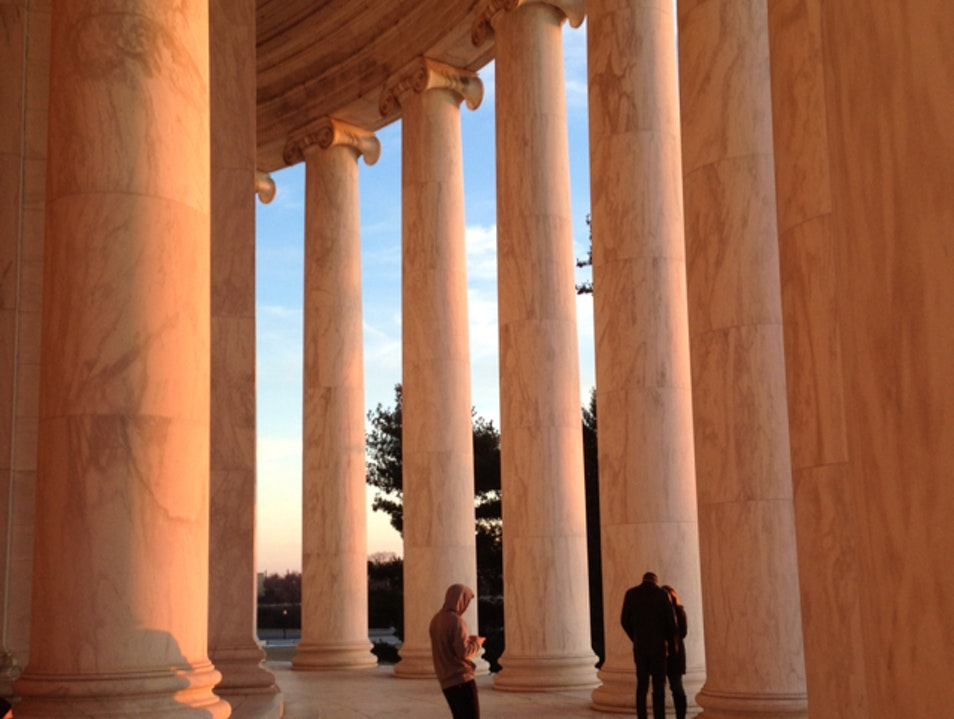 Sunset at the Jefferson  Washington, D.C. District of Columbia United States