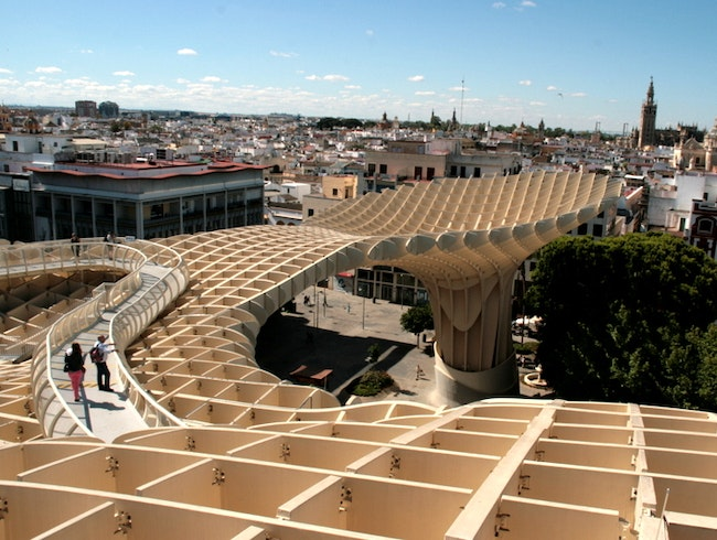 A Mushroom-Top View of Seville