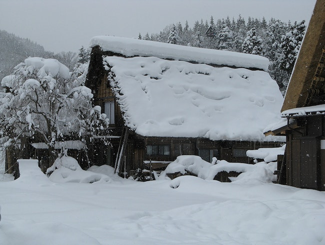 The gassho-zukuri houses of Shirakawa-go, Japan
