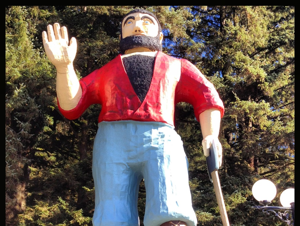 Paul Bunyan in the Trees of Mystery