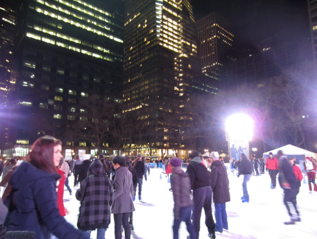 Ice-skating at Bryant Park, NYC