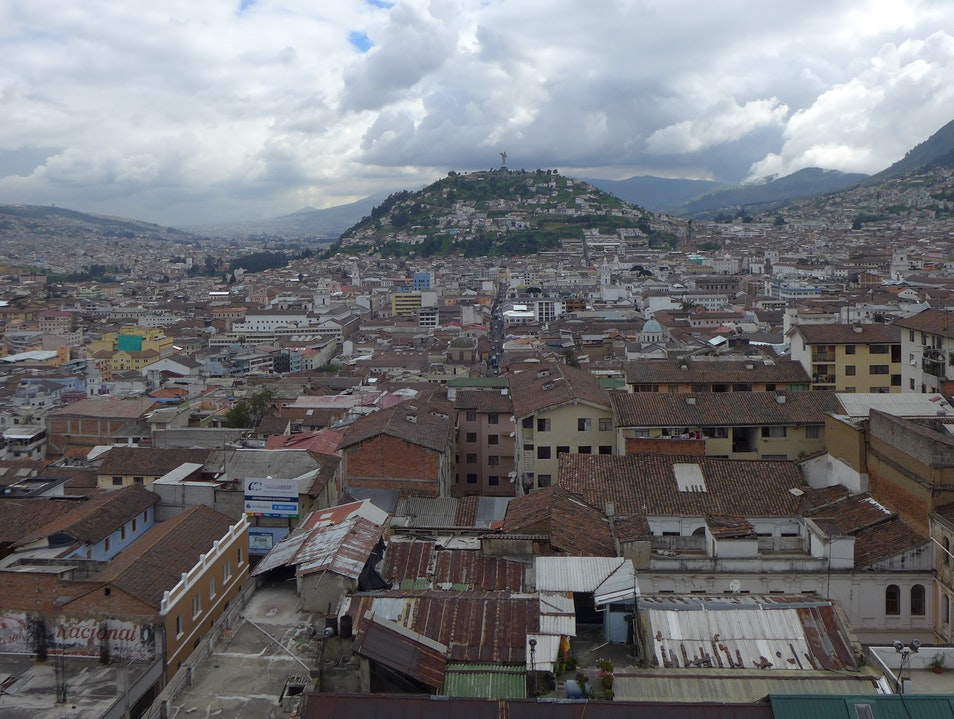 From the top of the Basilica del Voto Nacional Quito  Ecuador