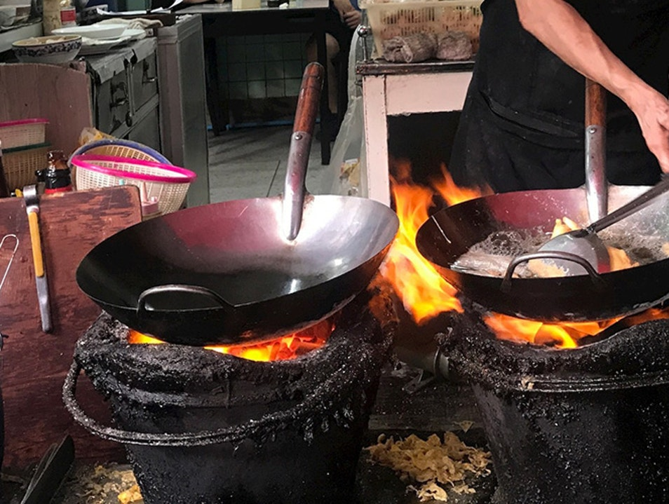 Bangkok Street-Food Queen Does the Wok of Life Tambon Nong Khanan  Thailand