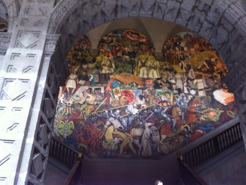 Diego Rivera mural - Presidential palace staircase Mexico City  Mexico