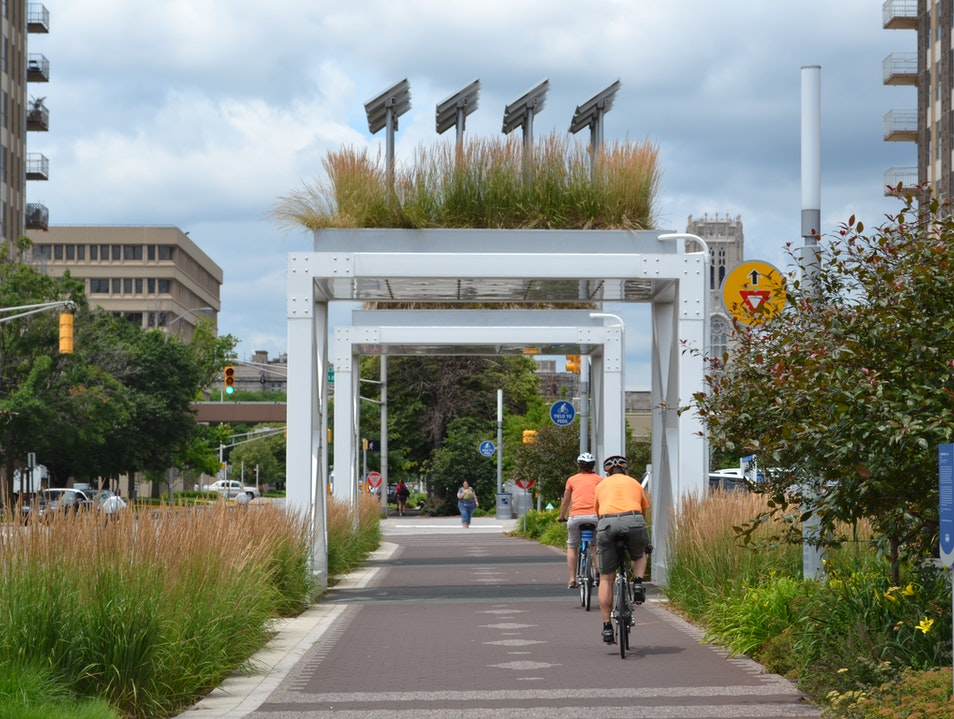 Bicycle Indy's Cultural Trail for Food, Art, History, and Fun Indianapolis Indiana United States
