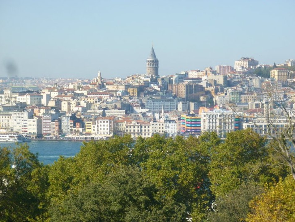 A View of Galata Tower Istanbul  Turkey