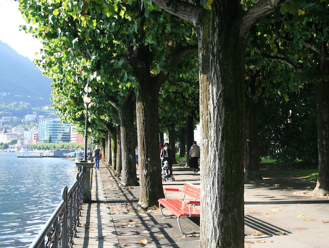 Lakeside Promenade Lugano Switzerland