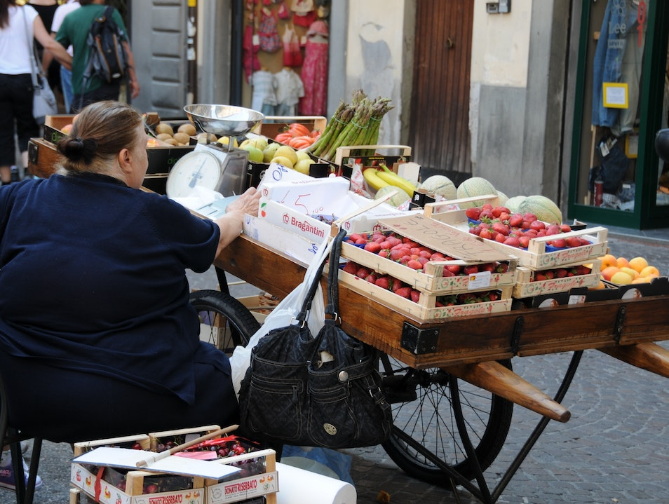 Fresh Produce For Sale in Lucca