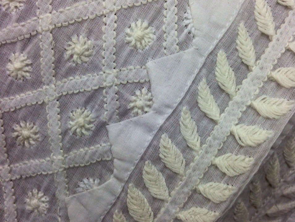 Chikan embroidery  Lucknow  India