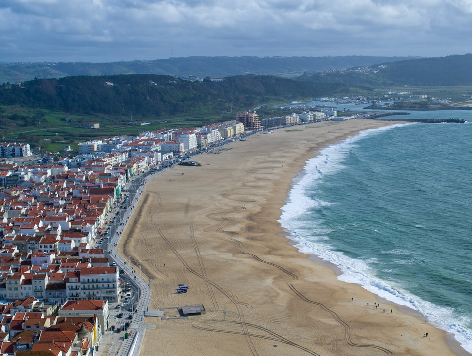 View of Nazare from Sitio Nazaré  Portugal