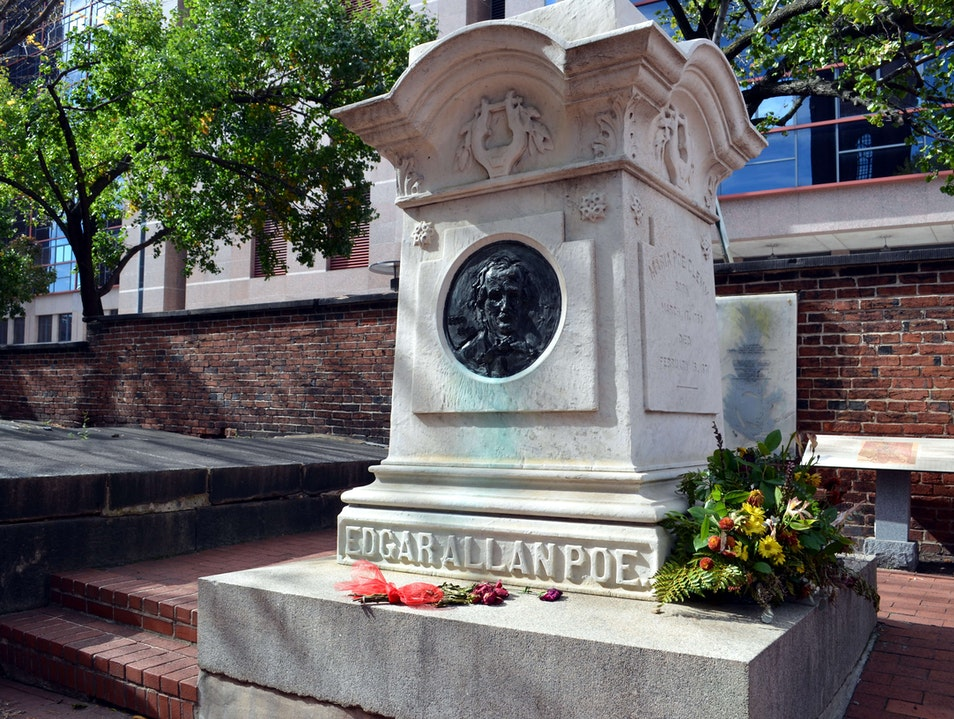Edgar Allan Poe's Grave in Downtown Baltimore Baltimore Maryland United States
