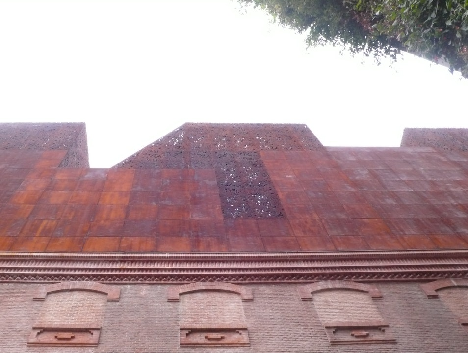 The Corten Steel roof of the Caixa Forum.