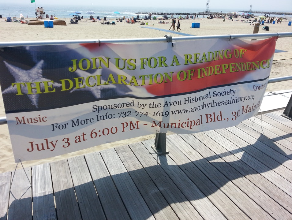 Declaration Reading Avon-by-the-Sea New Jersey United States