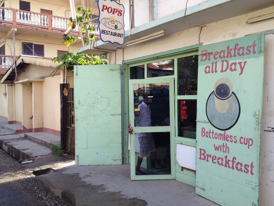Eat Breakfast at Pop's Restaurant San Ignacio  Belize