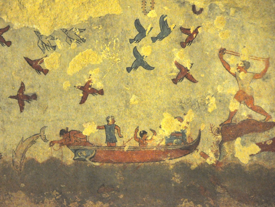Unlikely Art in Ancient Tombs of Tarquinia Tarquinia  Italy