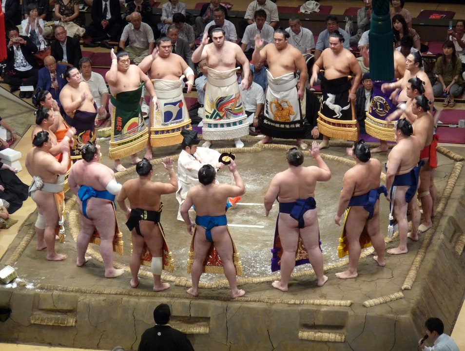 Sumo Wrestling Tournament Sumida  Japan