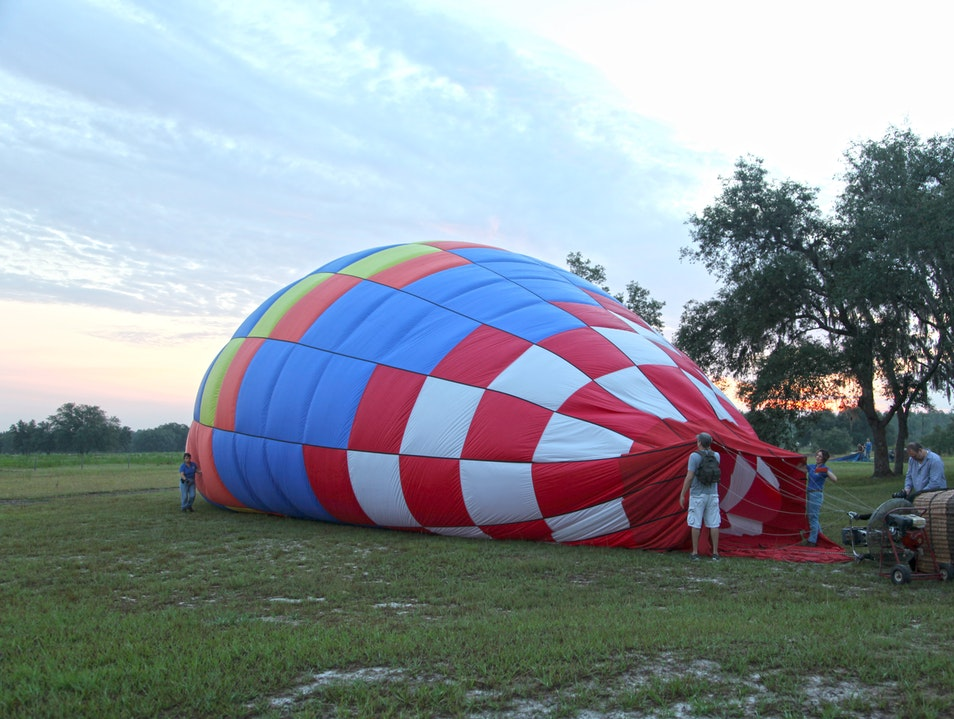 Up, up and away in a hot air balloon!  Orlando Florida United States