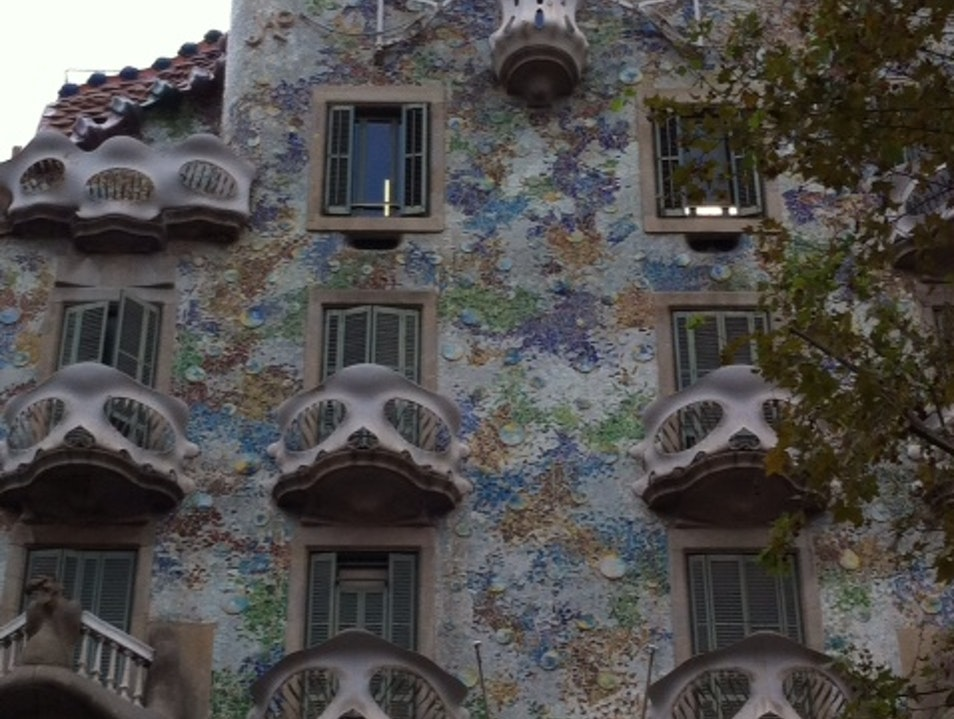 The most magical house of Gaudí Barcelona  Spain