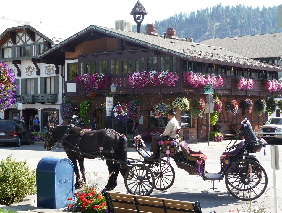 A Bavarian Carriage Ride Leavenworth Washington United States