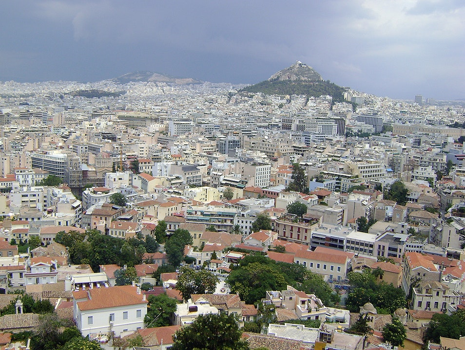 The view of Athens from the Acropolis Athens  Greece