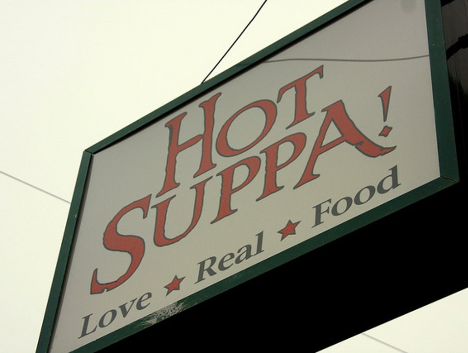 Try the Fried Green Tomato BLT at Hot Suppa Portland Maine United States