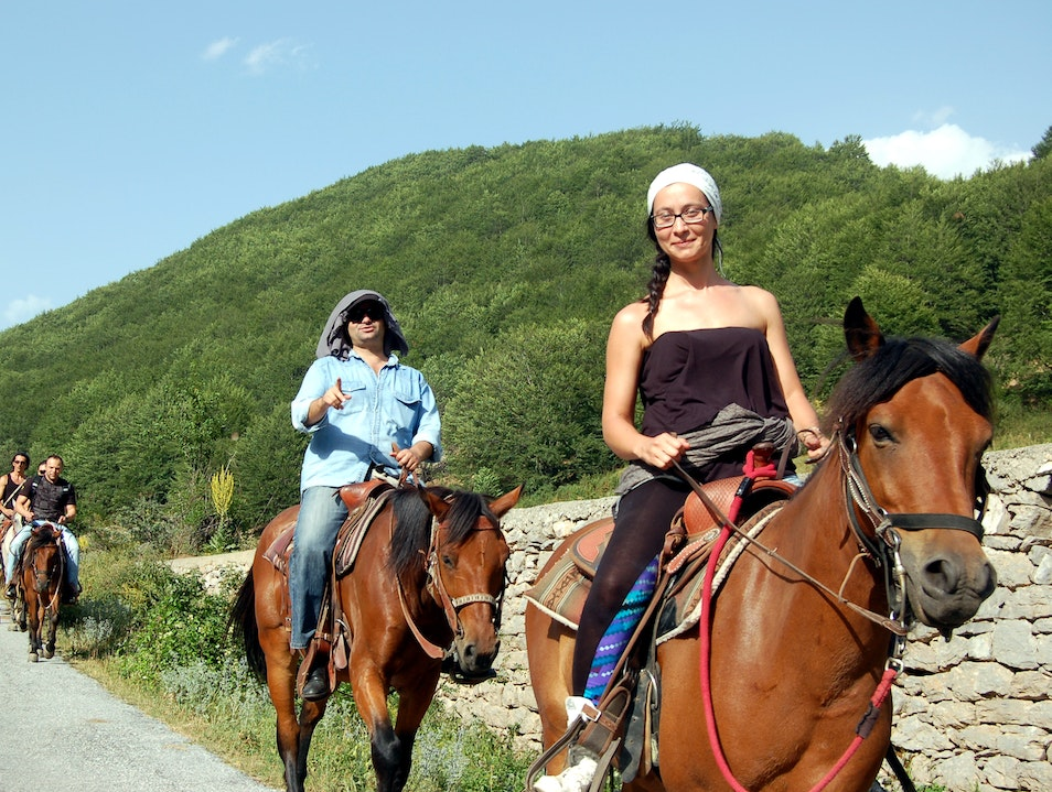 Horse riding in Galicnik  Galichnik  Macedonia (FYROM)