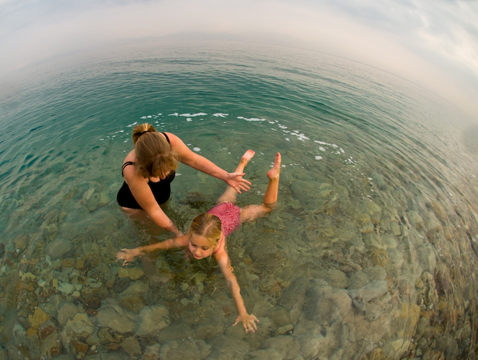Swimming in the Dead Sea is not as easy as one would think.