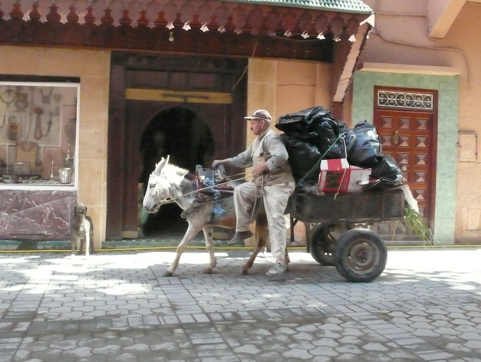 Delivering the goods. Marrakech  Morocco