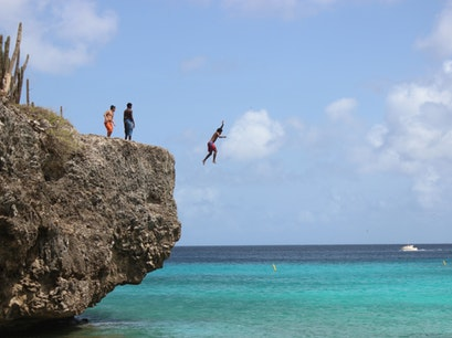 Boca Slagbaai Cliff Jumping Washington Slagbaai National Park  Caribbean Netherlands