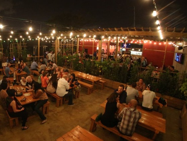 German Style Beer Garden in Wynwood Art District