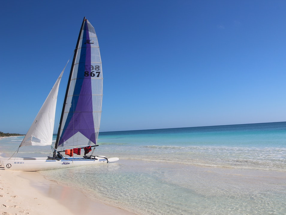 Catamaran Sailing  Tulum  Mexico