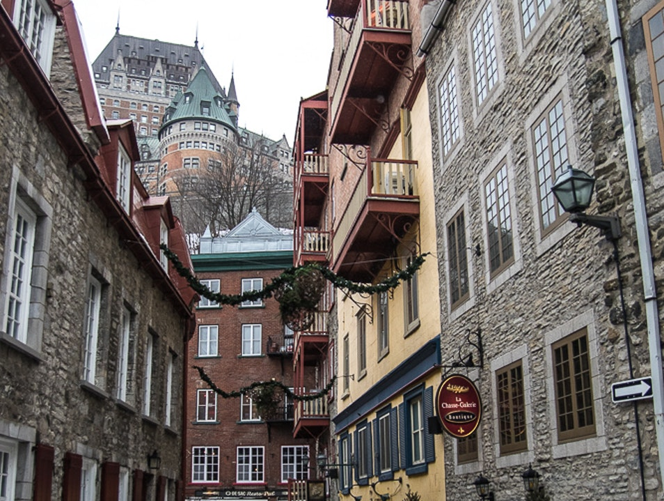 European charm in Quebec's Petit-Champlain District  Quebec City  Canada
