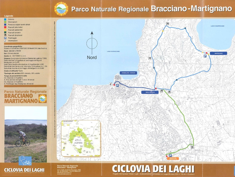 Cycling in the natural park of the Bracciano and Martignano lakes Anguillara Sabazia  Italy